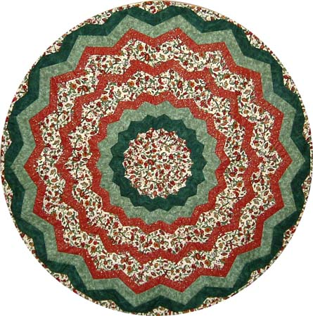 Christmas Tree Skirt (or circular quilt)